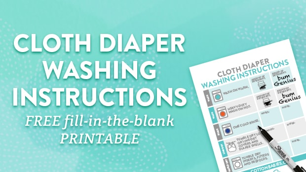 Printable Washing Instructions