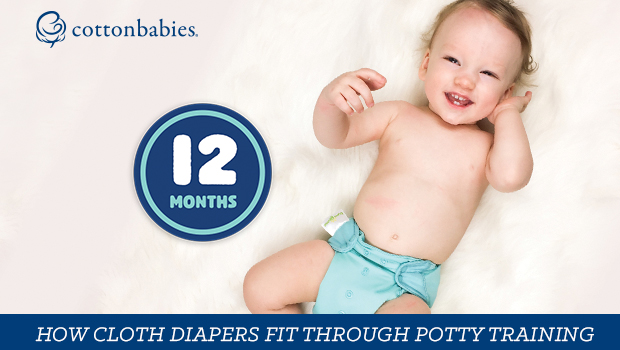 How do one-size cloth diapers fit 8-35 pounds?