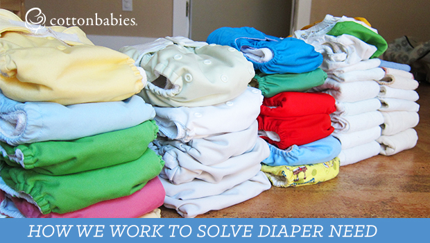 Share the Love, our cloth diaper bank, works to solve diaper need.