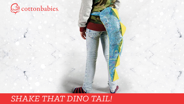 Shake that dino tail! Shop our latest toys in time for the holiday season. #cottonbabies