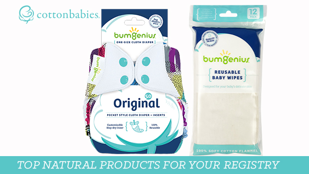 Natural parenting products for a baby registry