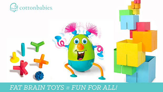 Looking for a fun, engaging toy for your toddler? Shop Fat Brain Toys now. #cottonbabies #toys