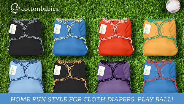 Playball cloth diapers in team colors - order now