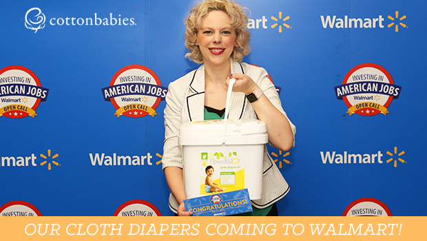Make cloth diapers mainstream! Look for cloth diapers in Walmart in 2019.