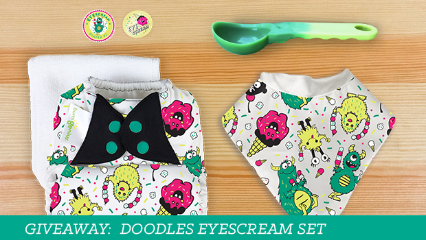 Enter for a chance to win your own Doodles EYEscream cloth diaper set!