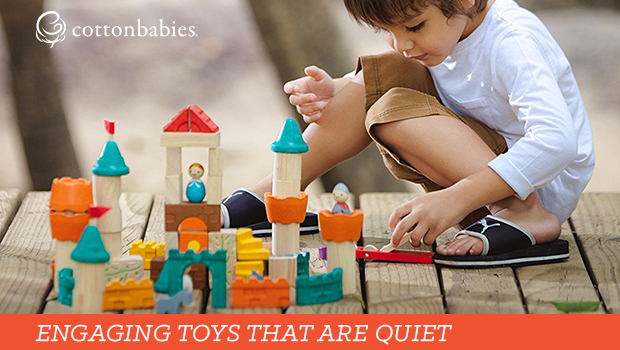 Engaging toys for toddlers that are quiet, too!