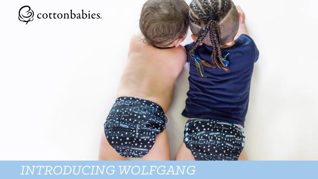 Wolfgang Diaper Print