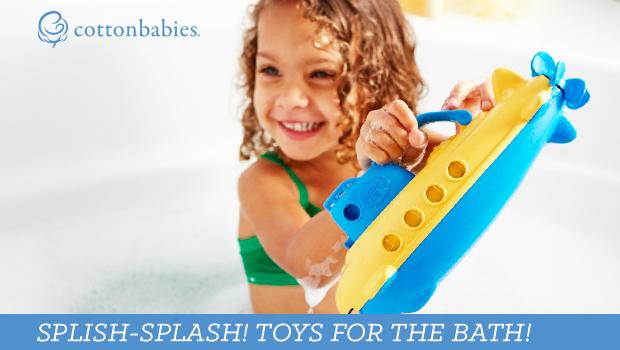 Splish splash - toys for the bath!