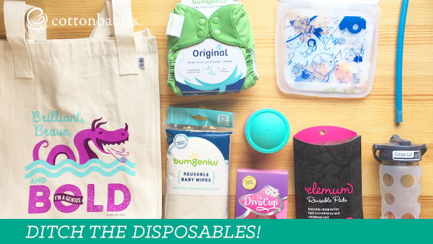 Make the switch! Try swapping out some disposable items for reusable options. Save money and prevent waste.