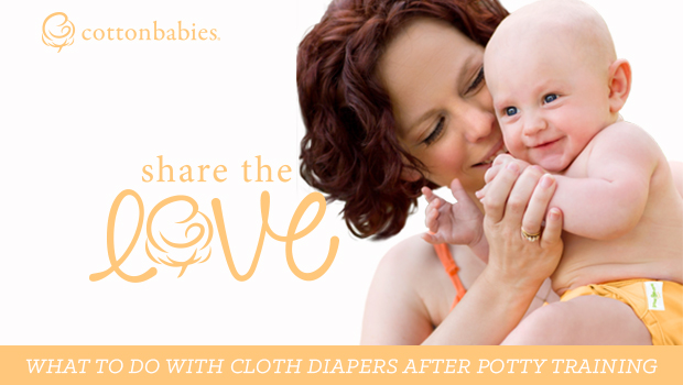 What to do with cloth diapers after potty training: Share the Love