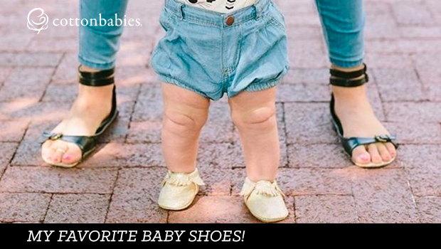 My favorite baby shoes offer everything you need in shoes for a new walker. #cottonbabies