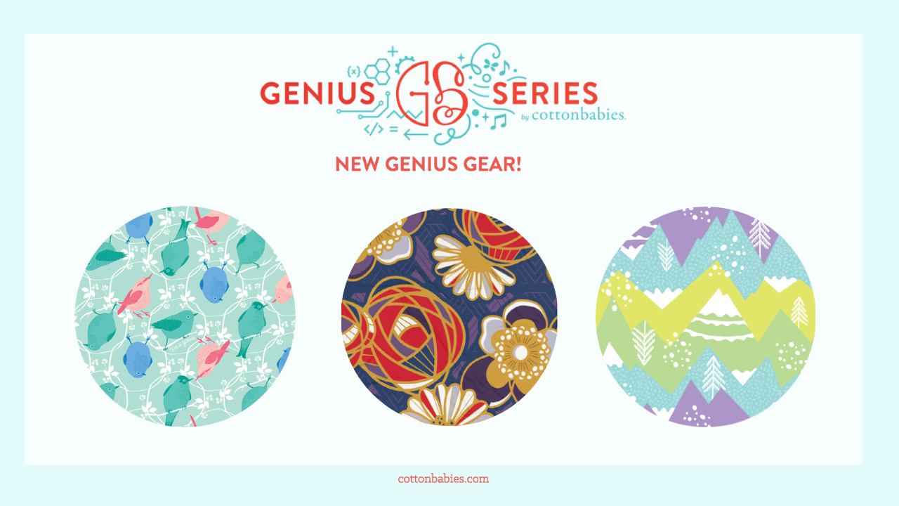 NEW Genius Gear! Shop leggings, sports bras, phone cases, and blankets! #bumgenius #geniusseries #geniusgear #cottonbabies